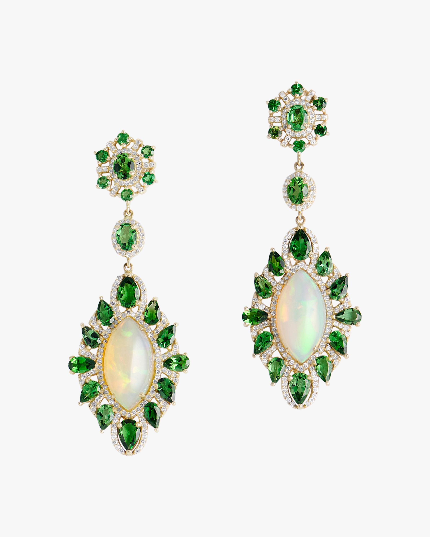 Sanjay Kasliwal Kamakhi Opal & Peridot Earrings 1
