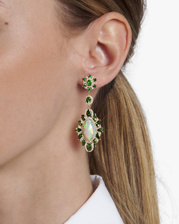 Sanjay Kasliwal Kamakhi Opal & Peridot Earrings 2