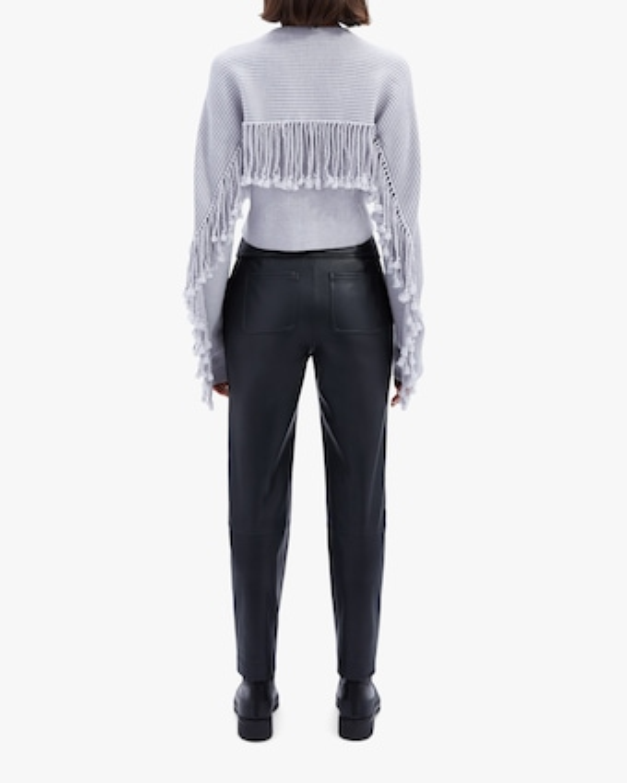 Jonathan Simkhai Hannah Draped Fringe Cropped Sweater 2