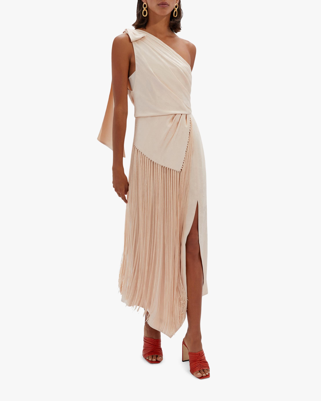 Jonathan Simkhai Wren Jacquard One-Shoulder Dress 1