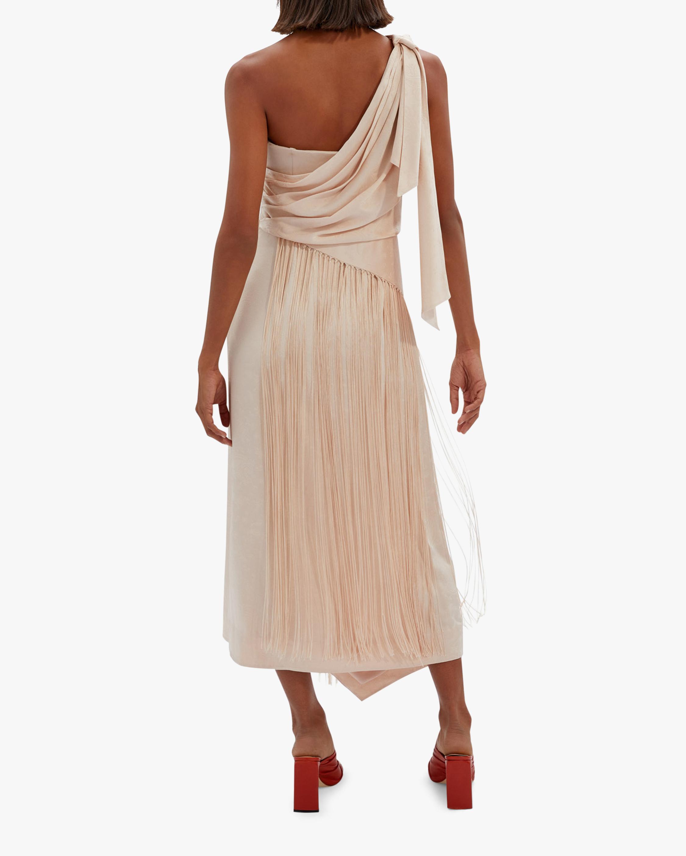 Jonathan Simkhai Wren Jacquard One-Shoulder Dress 2