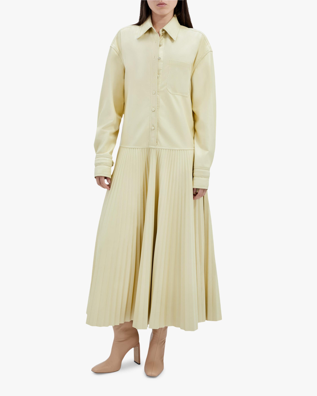 Jonathan Simkhai Makayla Faux-Leather Shirt Dress 1