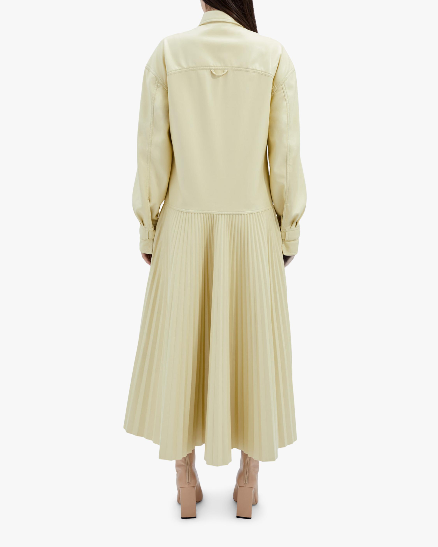 Jonathan Simkhai Makayla Faux-Leather Shirt Dress 2
