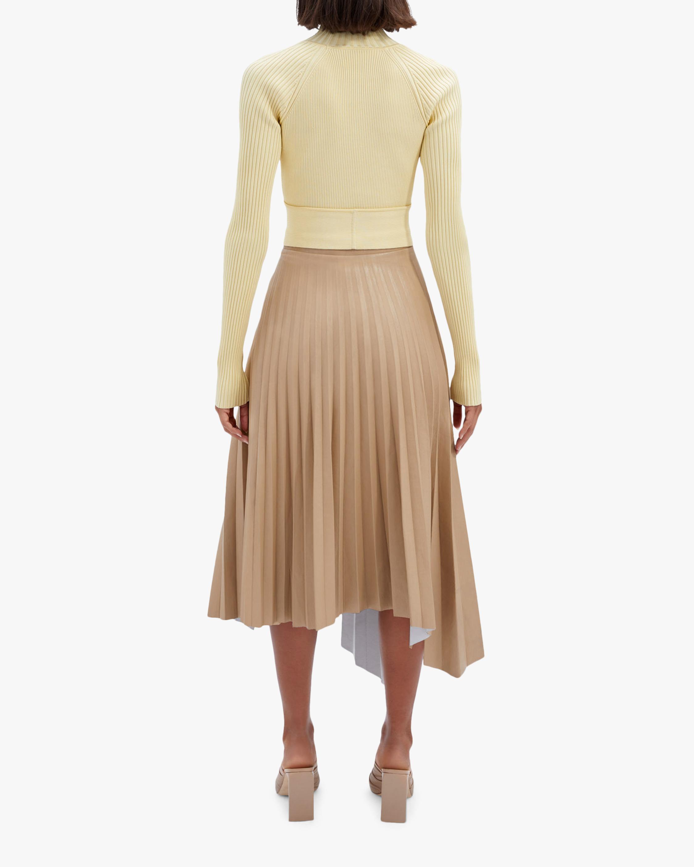 Jonathan Simkhai Jayla Faux Leather Pleated Skirt 2