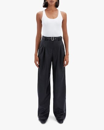 Jonathan Simkhai Delaney Faux Leather Wide-Leg Pants 1