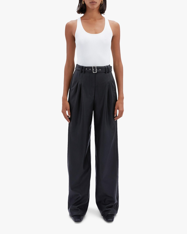 Jonathan Simkhai Delaney Faux Leather Wide-Leg Pants 0