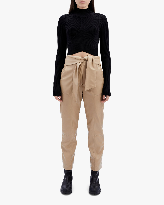 Jonathan Simkhai Tessa Faux-Leather Tie-Waist Pants 1