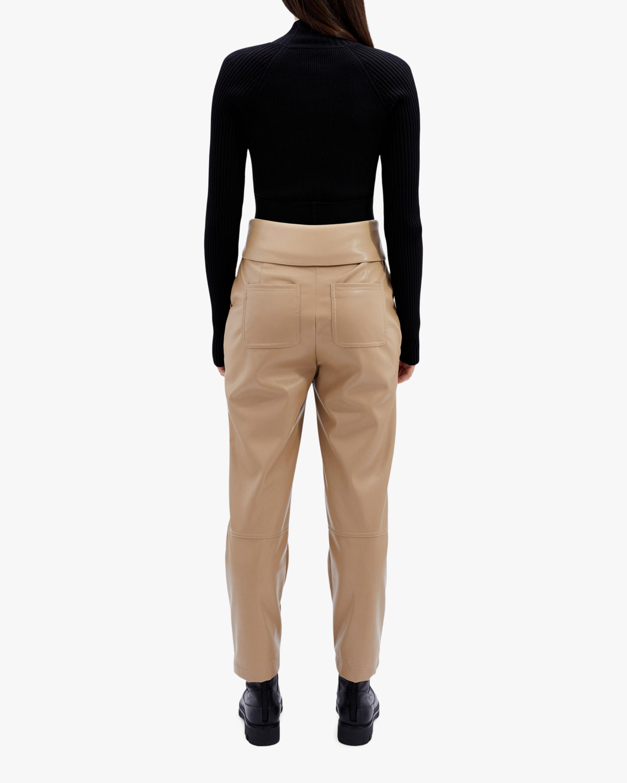 Jonathan Simkhai Tessa Faux-Leather Tie-Waist Pants 2