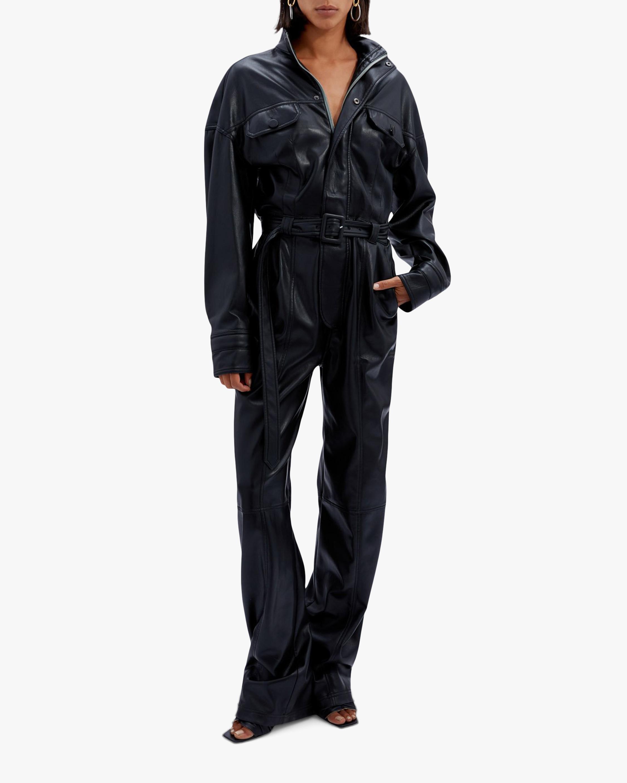 Jonathan Simkhai Katerina Faux Leather Utility Jumpsuit 1