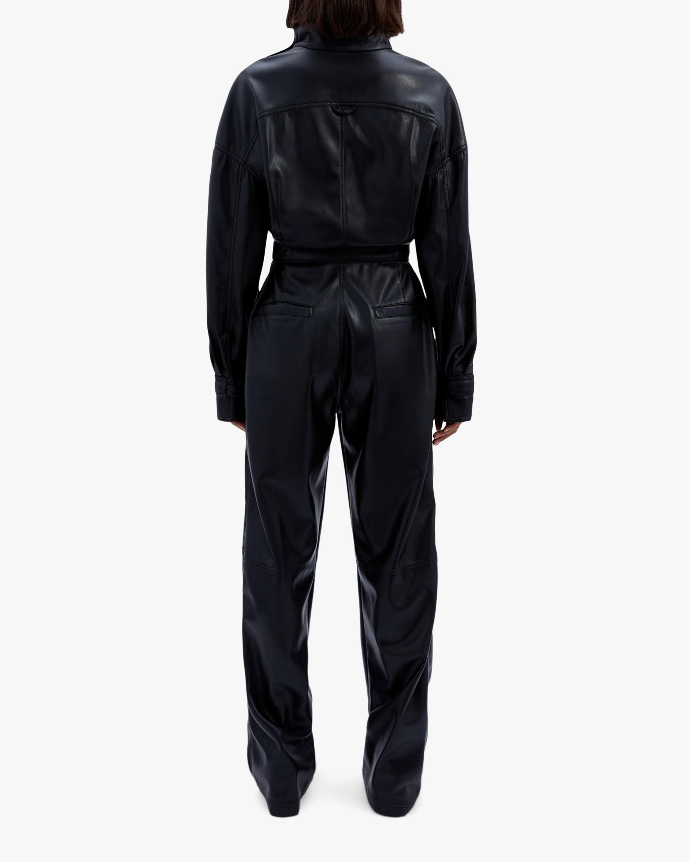 Jonathan Simkhai Katerina Faux Leather Utility Jumpsuit 2