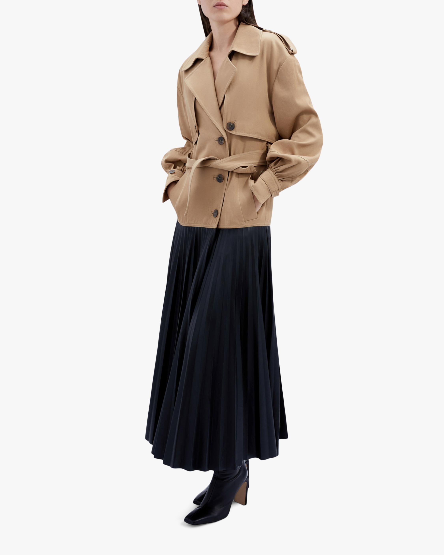 Jonathan Simkhai Dakota Faux-Leather Pleated Trench 1