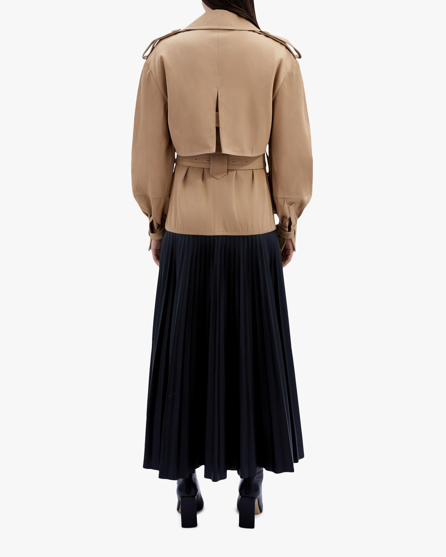 Jonathan Simkhai Dakota Faux-Leather Pleated Trench 2