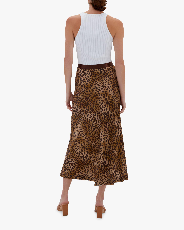 Jonathan Simkhai Sylvia Silk Slip Skirt 1