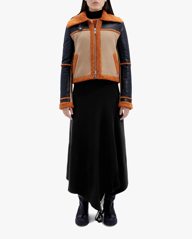 Jonathan Simkhai Adelynn Color Block Sherpa Jacket 0