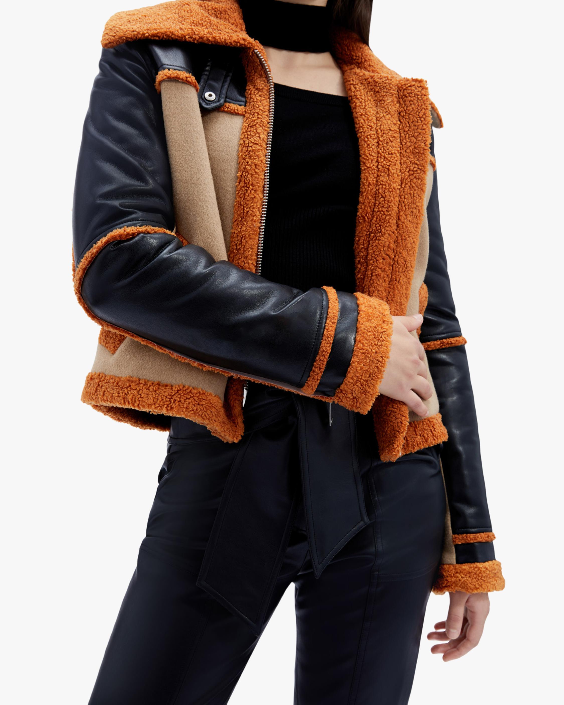 Jonathan Simkhai Adelynn Color Block Sherpa Jacket 3