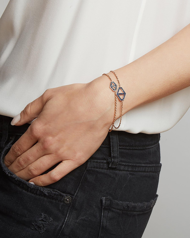 Walters Faith Blue Sapphire Hexagon Bracelet 2