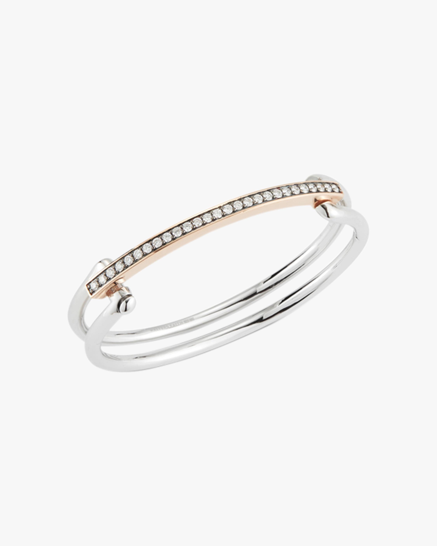 Walters Faith Two-Tone Diamond Double Band Bracelet 1