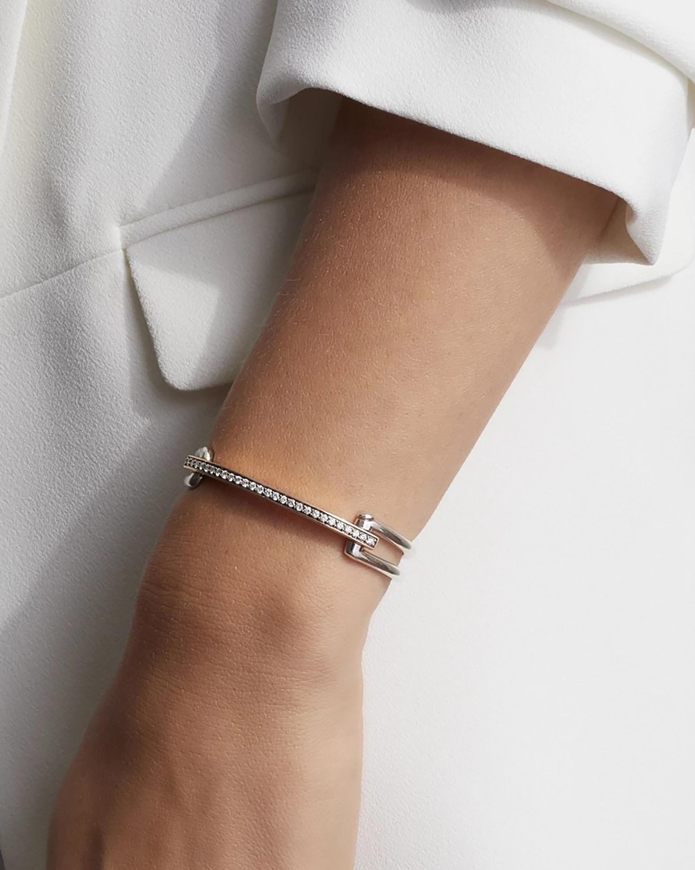 Walters Faith Two-Tone Diamond Double Band Bracelet 2