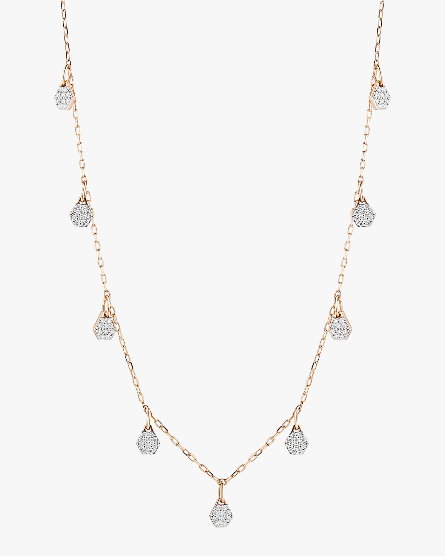 Walters Faith Diamond Hexagon Station Necklace 2
