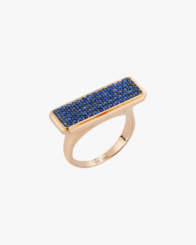Walters Faith Blue Sapphire Bar Ring 1