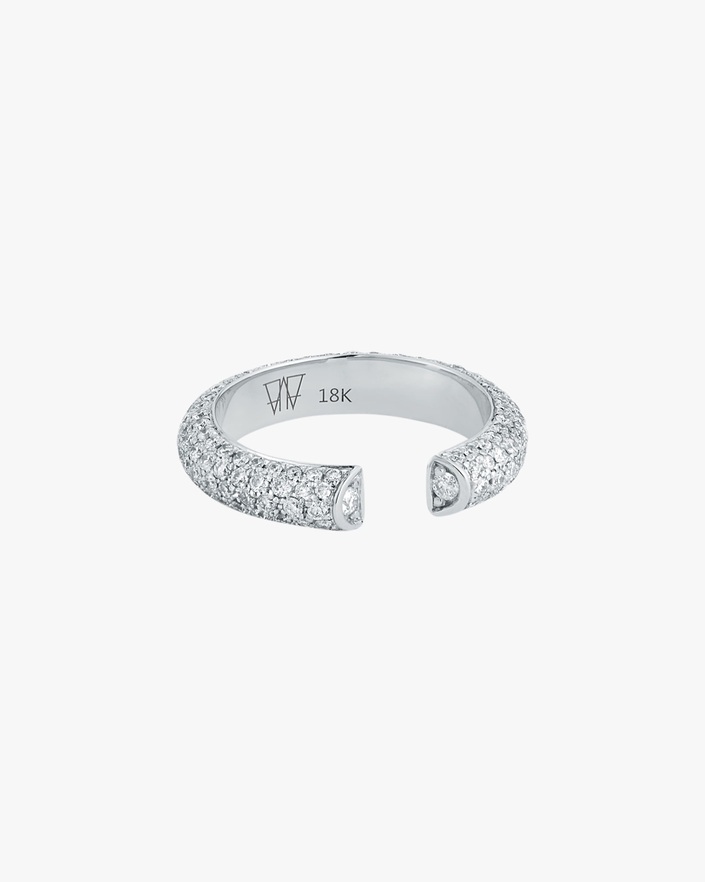 Walters Faith Thoby All Diamond Tubular Ring