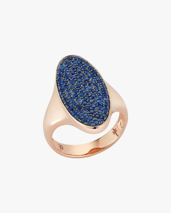 Walters Faith Blue Sapphire Oval Signet Ring 2