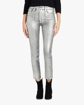 The Luna Metallic Ankle Jeans