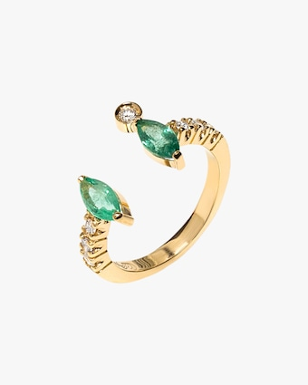Carolina Neves Emerald & Diamond Ring 1