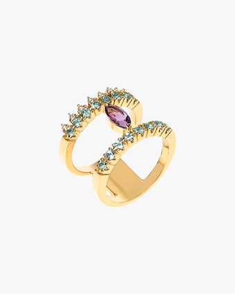 Carolina Neves Amethyst & Apatite Double Band 1