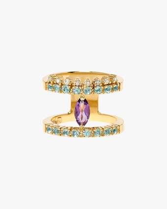 Carolina Neves Amethyst & Apatite Double Band 2