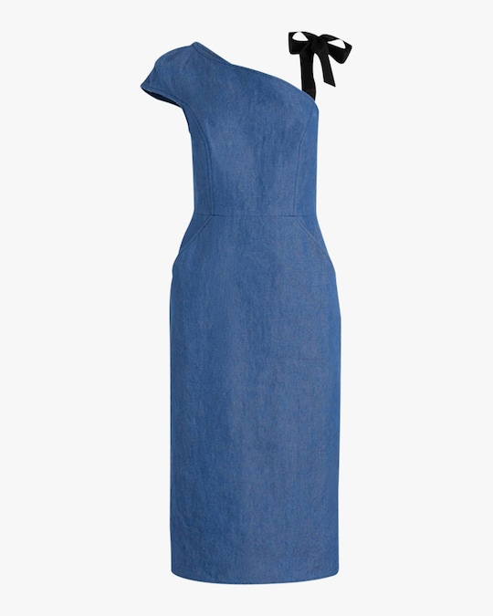 Arias New York Ribbon Strap One-Shoulder Dress 0