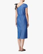 Arias New York Ribbon Strap One-Shoulder Dress 4