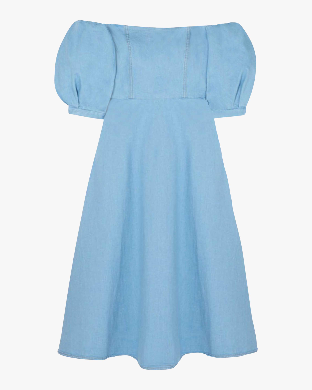 Arias New York Denim Off-Shoulder Dress 0
