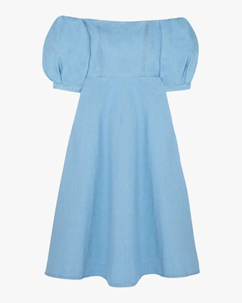 Arias Denim Off-Shoulder Dress 1