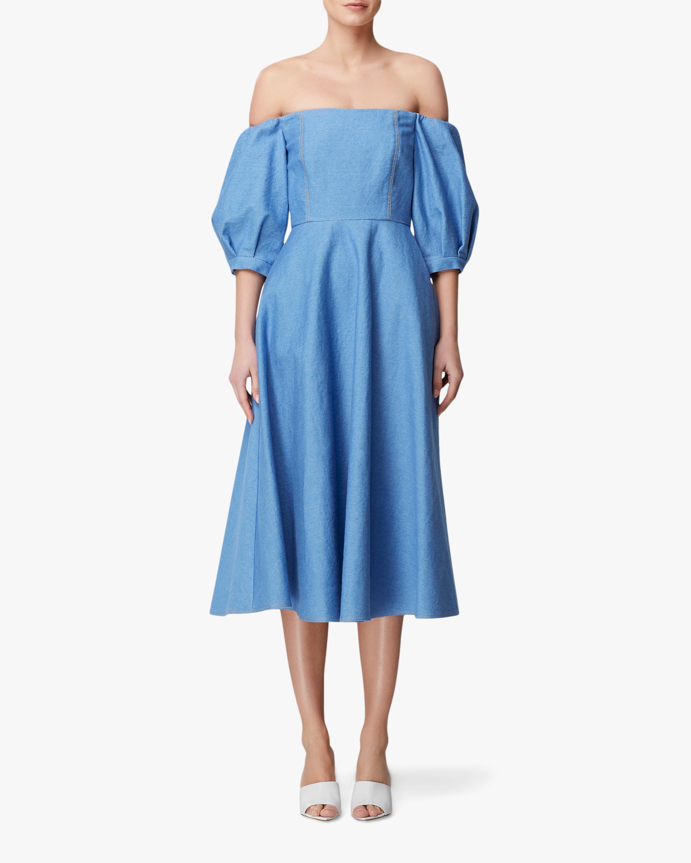 Arias New York Denim Off-Shoulder Dress 1