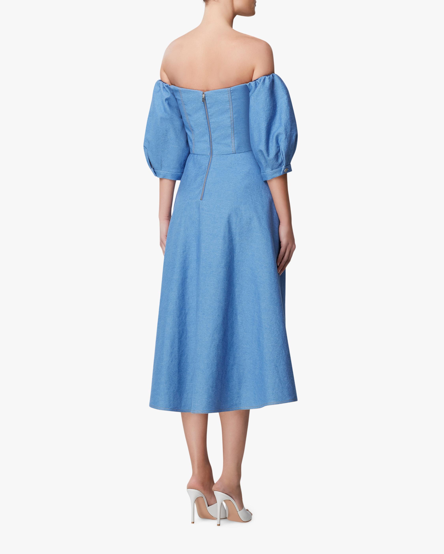 Arias New York Denim Off-Shoulder Dress 3