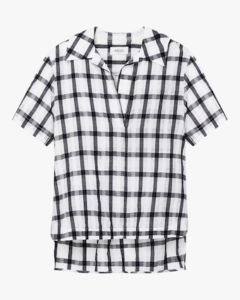 Arias Checked Tunic Top 1