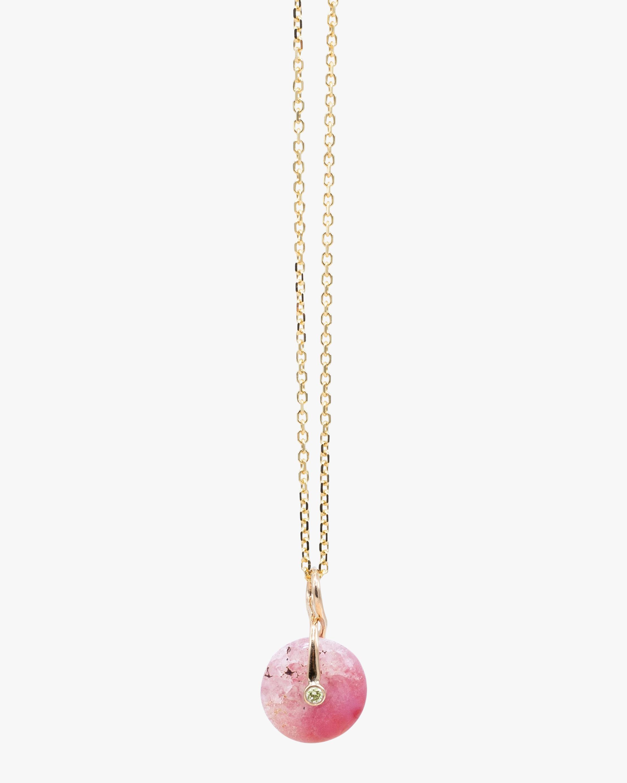 Millapani Pink Fruta Quartz Pendant Necklace 1