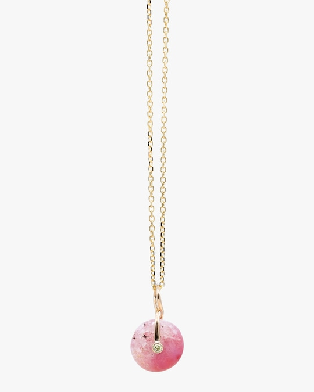 Millapani Pink Fruta Quartz Pendant Necklace 0