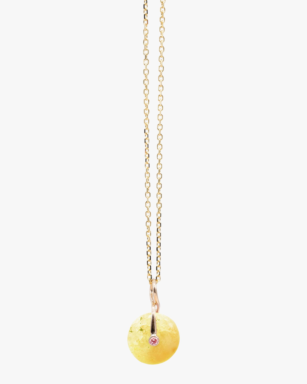 Millapani Yellow Fruta Quartz Pendant Necklace 1