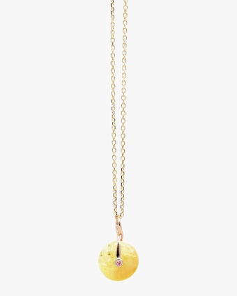 Millapani Yellow Fruta Quartz Pendant Necklace 1