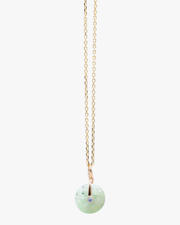 Millapani Green Fruta Quartz Pendant Necklace 1