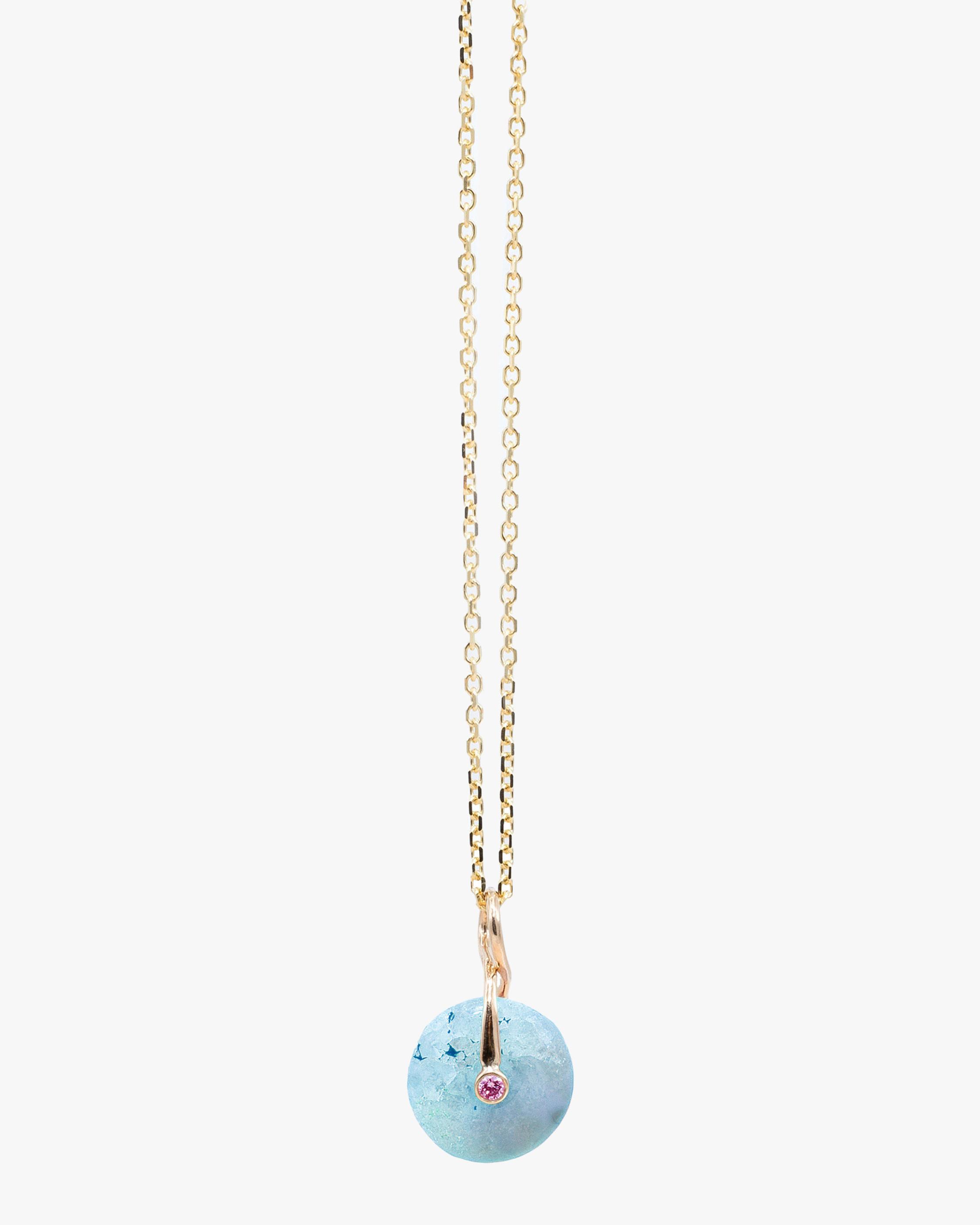 Millapani Blue Fruta Quartz Pendant Necklace 1