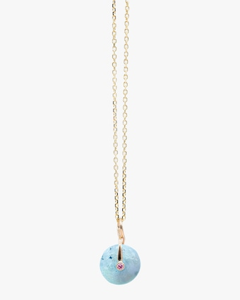 Millapani Blue Fruta Quartz Pendant Necklace 1