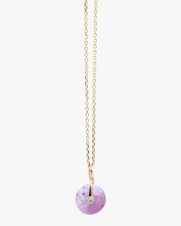 Millapani Lavender Fruta Quartz Pendant Necklace 1