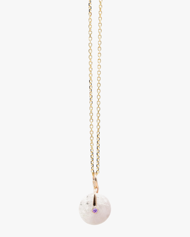 Millapani Snow Fruta Quartz Pendant Necklace 1
