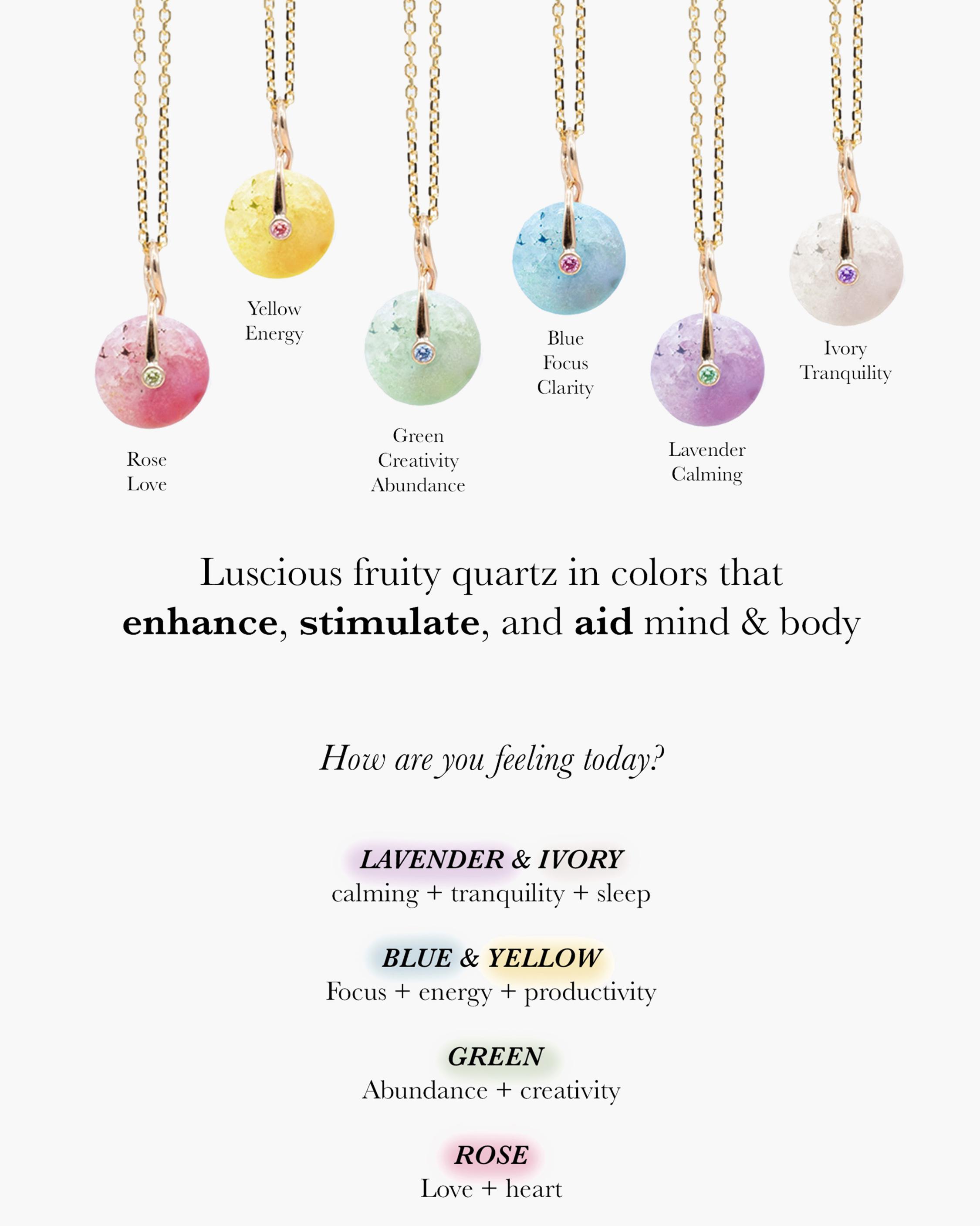 Millapani Snow Fruta Quartz Pendant Necklace 2