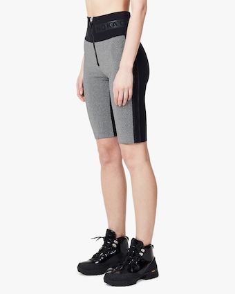 NO KA'OI Damier Zip-Up Biker Shorts 2