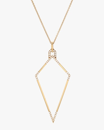DRU. White Diamond Amulet Necklace 1