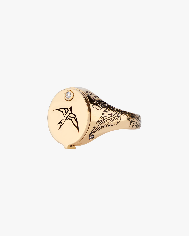 DRU. Diamond Gilded Cage Ring 2